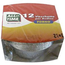 Contenitore Alluminio Muffin-budino X 12 Pezzi All Time Contenitori
