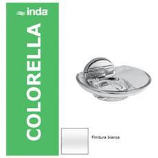Colorella Portasapone A Parete 14x14 Bianco, Trasparente, A23110