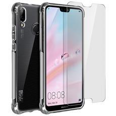 Impact Cover Huawei P20 Lite Silicone Morbido + Pellicola Hydrogel