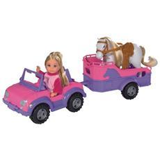 105737460, Ragazza, Multicolore, Cavallo, Auto della bambola, Femmina