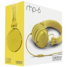 """RHP-6, Stereofonico, 3.5 mm (1/8"""") , Omni, Padiglione auricolare, Giallo, Cablato"""