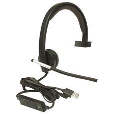 LOGITECH - Cuffie Stereo con Microfono per PC Connessione USB Nera b3c7aaa7e98c