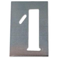 Stampo Traforato A Numeri In Serie (dallo 0 Al 9) Misura 70 Mm