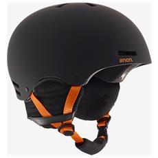 Casco Snowboard Uomo Rider L Nero Arancio