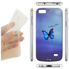Cover Morbida Slim TPU Vetro Miss You per Huawei Ascend P8 Lite