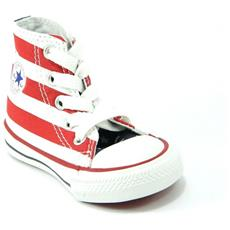 All Star Ct Scarpa Sneakers Alta Hi Bandiera America Junior 21