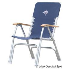 Sedia pieghevole alluminio Deck blu