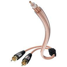 0030822-EU Star II Cavo Audio RCA a 2x RCA Maschio / Maschio 2,0 m Colore Trasparente