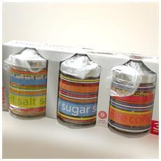 Confezione da 3 barattoli sale-zucchero-caffè