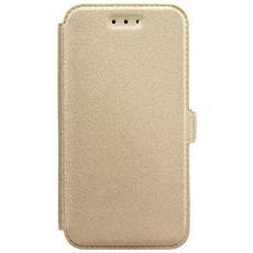 Cover Custodia Book Pocket - Samsung Galaxy J3 / j3 (2016) Gold