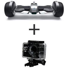 Hoverboard Vivo F1 Colore Acciaio + Action cam Xpro 415 HD Wi-Fi 16Mpx