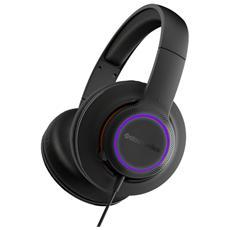 Cuffie Gaming Siberia 150 con Microfono Jack 3.5 mm Illuminazione LED RGB Colore Nero