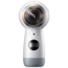 SAMSUNG - Gear 360 (2017) 360 Cam Doppio Sensore da 15 Mpx Risoluzione Ultra HD 4K Wi-Fi Bluetooth NFC