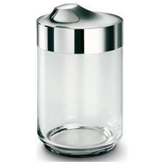 Barattolo In Vetro Soffiato Cl 100 Con Coperchio In Acciaio Inox Lucidato A Specchio - 6819