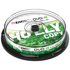 ECOVR471016CB, 4,7 GB, DVD-R, 120 min, Scatola per torte