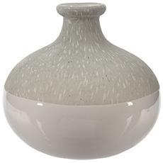 Vaso Dm. 12,5xh12 Bianco / Pietra