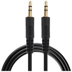 Cavo Audio Jack Stereo 3,5 Aux Maschio Maschio Per Smartphone 1mt Nero