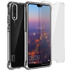 Impact Cover Huawei P20 Silicone Morbido + Pellicola Hydrogel Flessibile