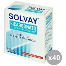 Set 40 Bicarbonato 250 Gr. Detergenti Casa
