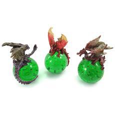 set di 3 'dragons mystiques' verde - [ j9947]
