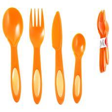 Set 4 Posate Colore Arancione - Linea Dulacon