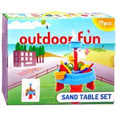 Set Giochi D'acqua E Sabbia Con Base Giocattolo Cm 58 Per Bambini 36 Mesi