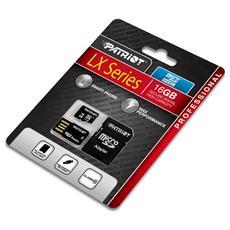 Memory microSDHC 16GB, 16 GB, Micro Secure Digital High-Capacity (MicroSDHC) , 30 MB / s, Nero, CE / FCC, 1,09 cm