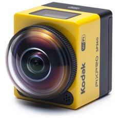 PixPro SP360 impermeabile Full HD visione a 360° 16 Mpx 2m Wi-Fi e NFC - Nero / Giallo