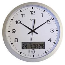 orologio da parete ø30cm con display data / temperatura cep