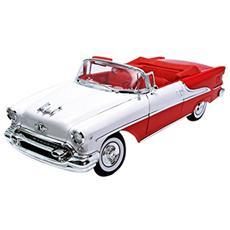 We9869 Oldsmobile Super 88 Hard Top 1955 White / red 1:18 Modellino