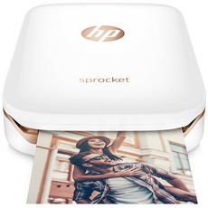 HP - Stampante Portatile Sprocket a Colori per Foto 5x7,6 cm Wi-Fi Micro USB - Bianco