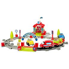 Costruzioni Abrick 3164 Pista Treno Con Veicoli E Stazione Ecoiffier Per Bambini 18 Mesi
