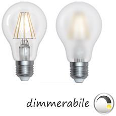 Lampada Led Dimmerabile Filamento Vetro Chiaro E27 10w 1000 Lumen