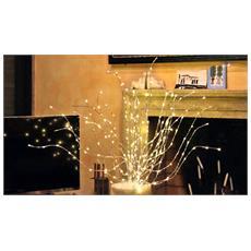 Ramo Luminoso 288 Microled Luce Bianco Caldo 50cm Luci Di Natale Interno Esterno Addobbi Casa Giardino