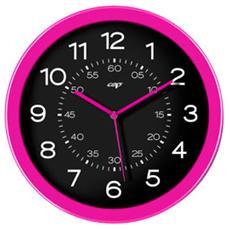 orologio da parete ø30cm nero / fuxia cep pro happy