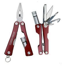 MINI-MULTI Pinza portachiavi in acciaio inox con 8 utensili