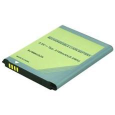 2-Power 3.8V 2100mAh, 2800 mAh, GPS / PDA / Mobile phone, Ioni di litio, 6,2 cm, 5 cm, 5 mm