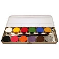 Palette In Metallo Con 12 Colori Aqua Make Up Per Trucchi 212004