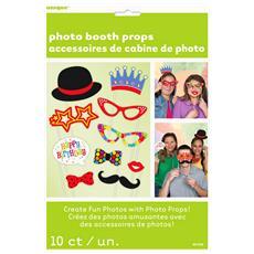 Confetti Accessori Per Fotoricordo Pacco Da 10 (taglia Unica) (multicolore)