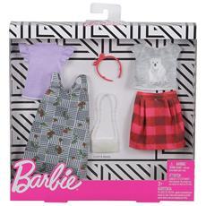 FXJ67 Barbie - BiPack Abiti Fashion: Scacchi e Natura