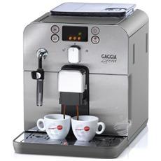 BRERA Macchina Caffè Espresso Serbatoio 1,2 Litri Potenza 1400 Watt Colore Argento