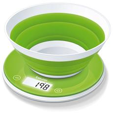 KS 45 Bilancia Da Cucina Portata Massima 5 KG Capacità 1.6 Litri Colore Bianco / Verde