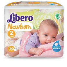 216 Pannolini Libero Newborn Misura 2 (kg 3/6) 6 Pacchi
