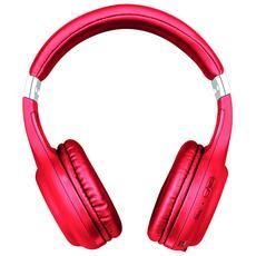 Cuffie con Microfono senza Filo 22766 Wireless Colore Rosso