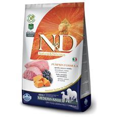 N&d Pumpkin Cane Taglia Media E Grande, Agnello E Mirtillo Kg. 2,5