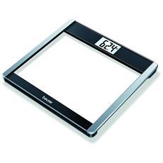 Bilancia in Vetro con Bluetooth Smart Portata Massima 180 kg Colore Bianco e Nero