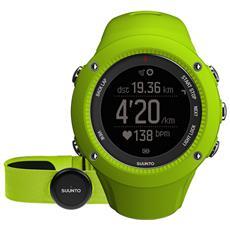 Ambit3 Run Lime (hr) L'orologio Gps Pensato Per Runner Con Monitoraggio Della Frequenza Cardiaca Connessione Mobile