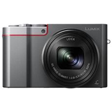 """LUMIX TZ100 Argento Sensore MOS Mpx Display 3"""" Filmati Ultra HD 4K Wi-Fi"""