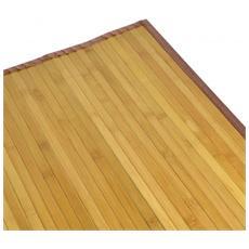 Set 2 Tappeti Bambu Bamboo Cm60x90 Con Listelle Grandi Colore Naturale