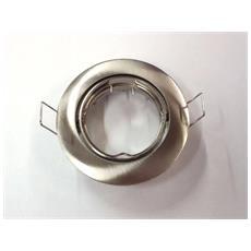 Faretto Tondo Danira Alluminio Spazzolato Gu10